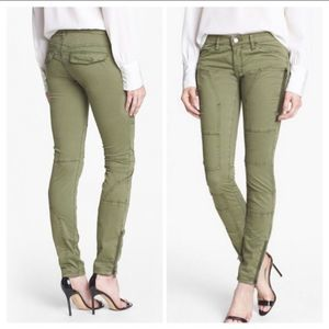 BLANKNYC Stick Shift LTD Army Green Skinny Jeans